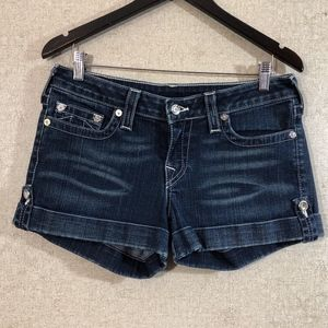 True Religion Swarovski Button Jess Jean Shorts
